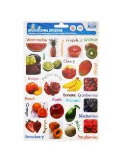 Stickere educative cu Fructe