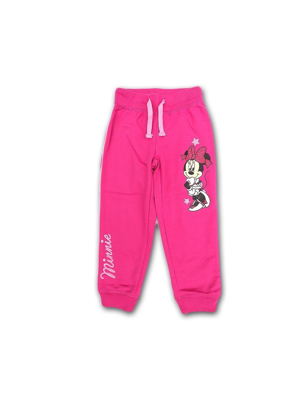 Pantaloni sport Minnie Mouse, roz, copii 3 - 8 ani