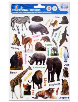 Stickere educative cu Animale salbatice, 29 x 18 cm