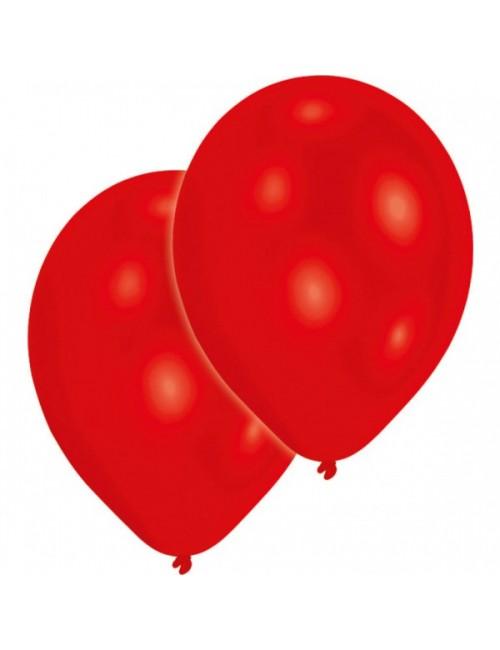 Set 10 baloane rosii, Amscan