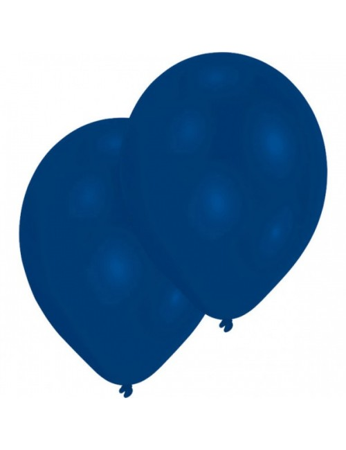 Set 10 baloane albastre, 25 cm, Amscan