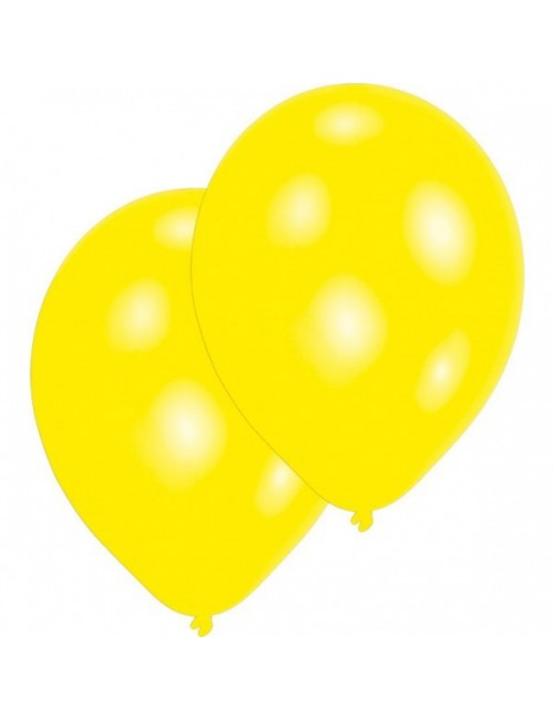 Set 10 baloane galbene, Amscan, 27 cm