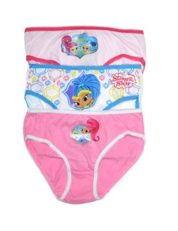 Set 3 chiloti copii, Shimmer si Shine, 6 - 8 ani