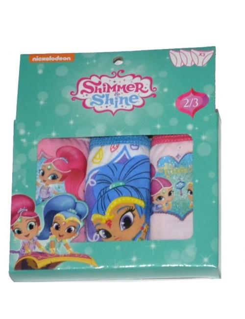 Set 3 chiloti copii, Shimmer si Shine, 2 - 8 ani