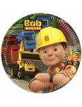 Set 8 farfurii party, Bob Constructorul, 19,5 cm