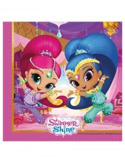 Set 20 servetele masa, Shimmer si Shine, 33 x 33 cm
