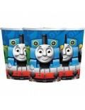 Set 8 pahare carton, Thomas si prietenii, 266 ml