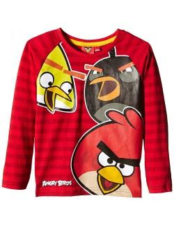 Bluza Angry Birds, rosie, copii 4-10 ani