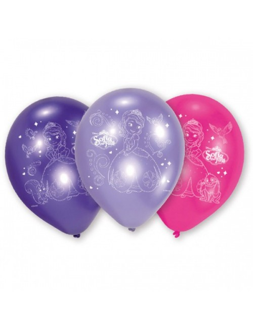 Set 6 baloane party, Sofia Intai, 23 cm