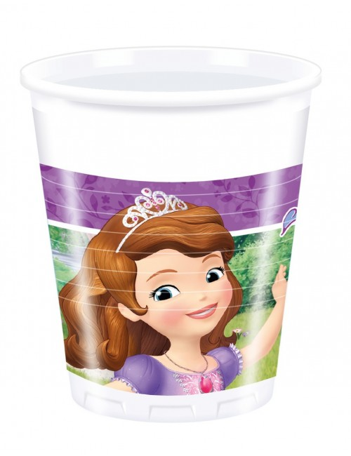 Set 8 pahare plastic, Sofia Intai, 200 ml