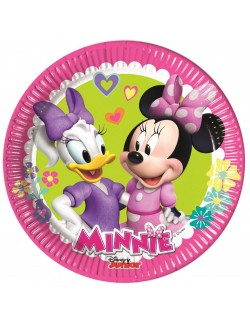 Set 8 farfurii party, Minnie & Daisy, 20 cm