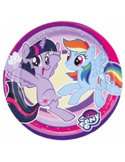 Set 8 farfurii petrecere, My little Pony, 18 cm