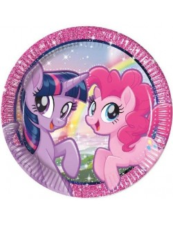 Set 8 farfurii party, My little Pony, 23 cm