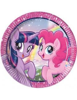 Set 8 farfurii party, My little Pony, 23 cm