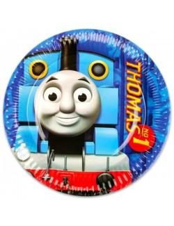 Set 8 farfurii petrecere, Thomas si prietenii, 23 cm