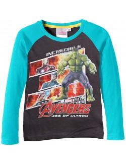 Bluza baieti, gri - turcoaz, Avengers - Age of Ultron, 4 - 10 ani