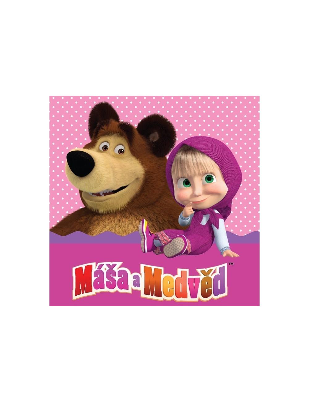 Fata de perna, Masha si Ursul, 40 x 40 cm