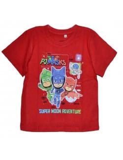 Tricou copii, Eroi in pijamale, rosu, 3 - 8 ani