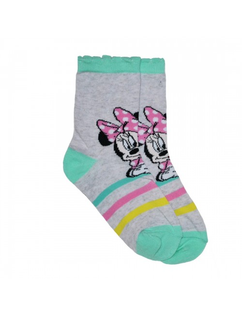 Sosete copii, Minnie Mouse, roz sau vernil, 23 - 34