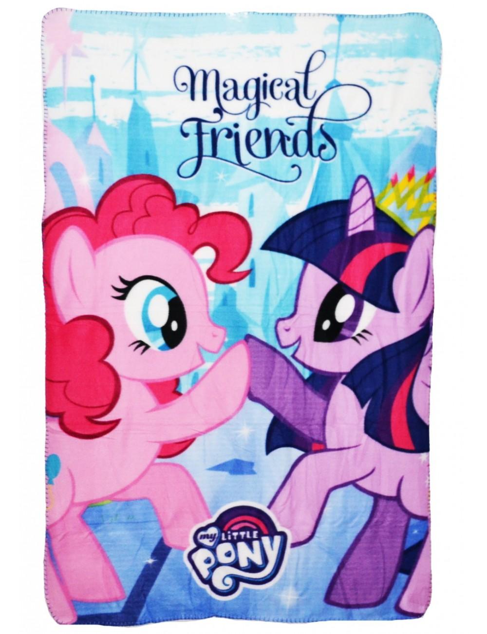 Paturica Pony Pinkie Pie & Twilight, polar, 100 x 150 cm
