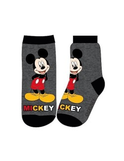 Sosete Mickey Mouse, gri inchis, 23-34
