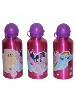 Recipient apa, aluminiu, My little Pony, 500 ml, fucsia