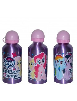 Recipient apa, My little Pony, mov, aluminiu, 500 ml