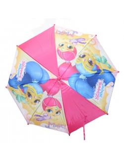 Umbrela manuala Shimmer si Shine, roz, 39 cm