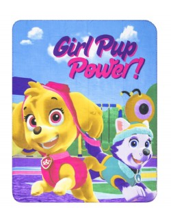 Păturică polar, Paw Patrol - Girl Pup Power!, 120 x 140 cm