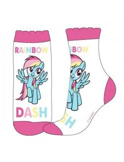 Sosete copii, Little Pony Rainbow Dash, albe, 23 - 34