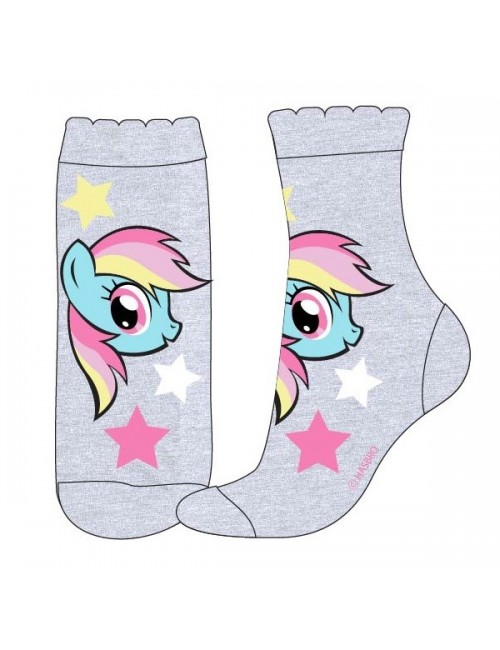 Sosete copii, Little Pony Rainbow Dash, gri, 23 - 34