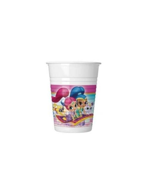 Set 8 pahare plastic, 200 ml, Shimmer si Shine
