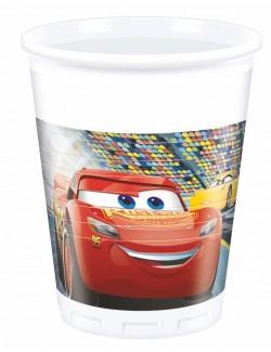 Set 8 pahare plastic, 200 ml, Disney Cars