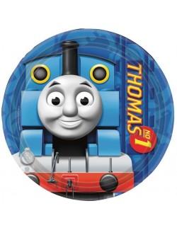 Set 8 farfurii party, Thomas si prietenii, 18 cm