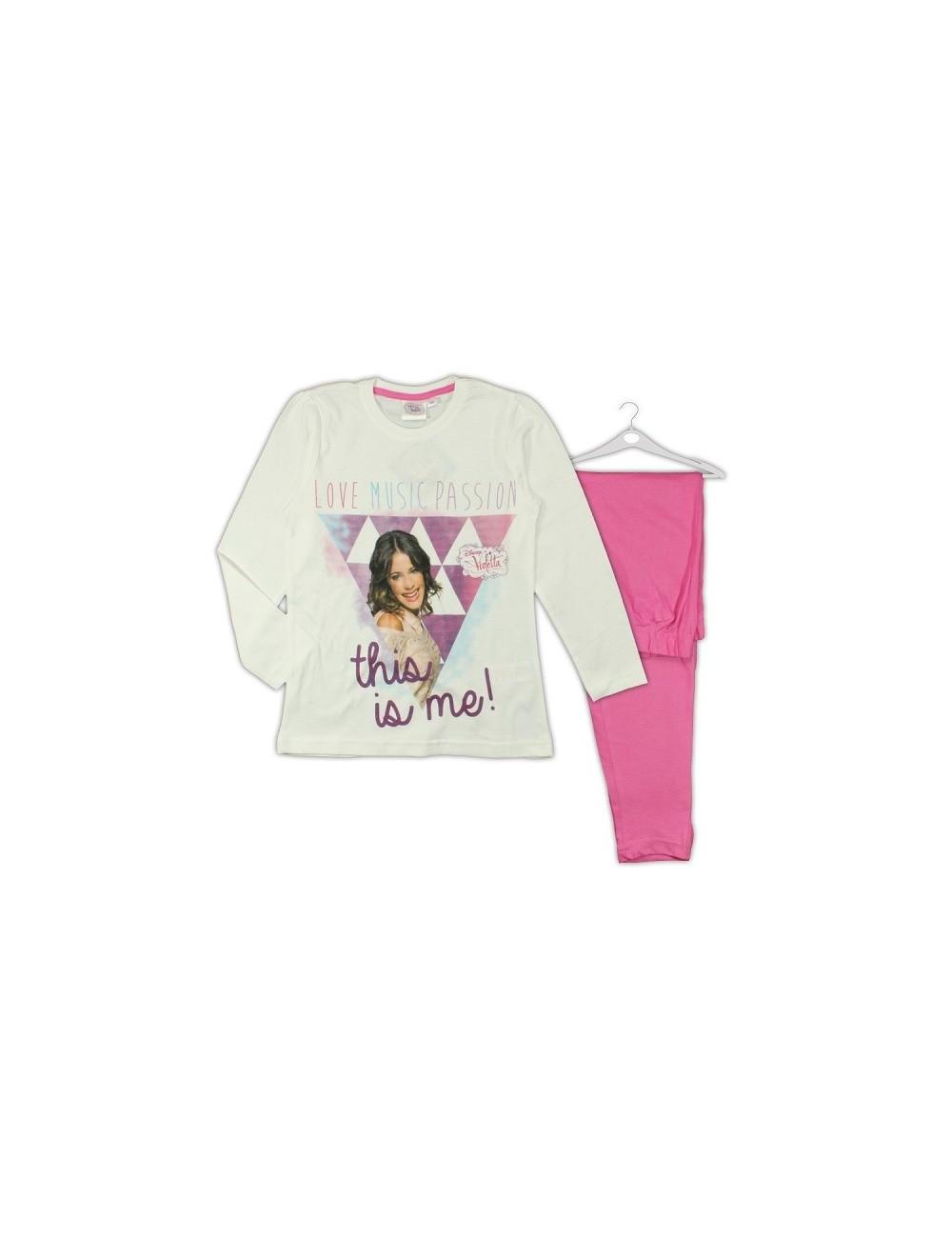 Pijama Disney Violetta, maneca lunga, 7-10 ani