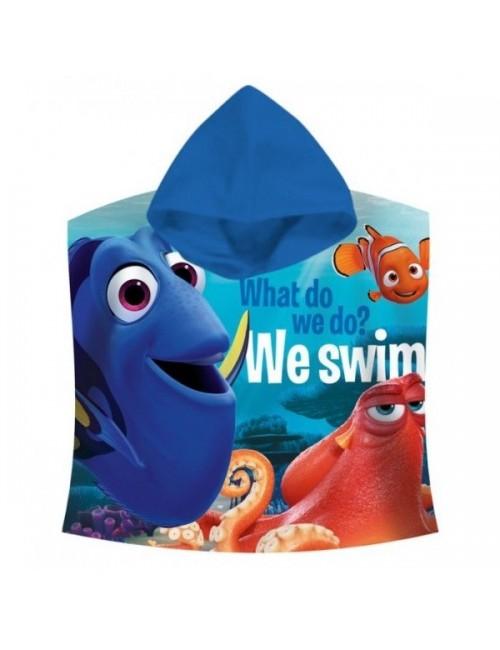 "Prosop poncho, Disney Dory & Nemo ""We swim!"""
