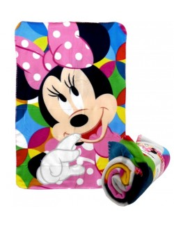 Paturica Minnie Mouse, polar fleece, 100 x 150 cm