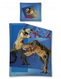 Lenjerie de pat Dinozauri T-Rex, albastra, 160 x 200 cm