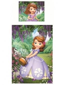 Lenjerie pat Disney Sofia Intai, 140 x 200 cm