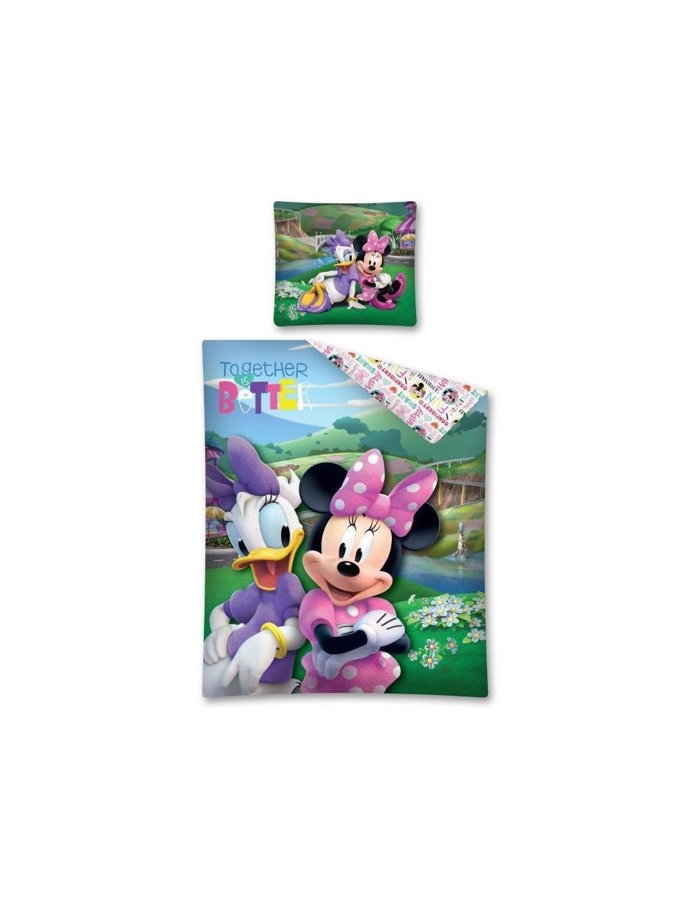 Lenjerie de pat Minnie Mouse & Daisy, 140 x 200 cm