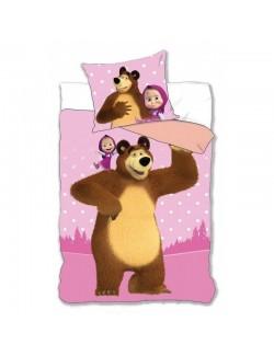 Lenjerie de pat, Masha si Ursul, 160 x 200 cm