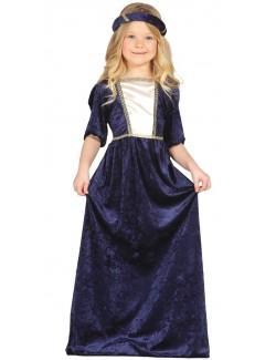 Costum Printesa medievala, copii 6 - 9 ani