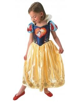Costum Alba ca zapada Love Heart, copii 3-6 ani