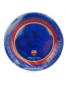 Set 8 farfurii petrecere, FC Barcelona, 20 cm