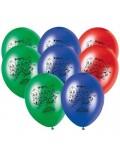 Set 8 baloane party, Eroii in pijama - PJ Masks