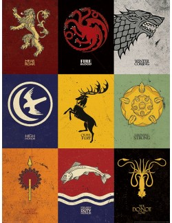 Poster - Art print - Game of Thrones, Sigilii, 60 x 80 cm