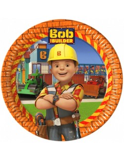 Set 8 farfurii Bob Constructorul, 23 cm