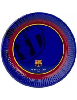 Set 6 farfurii petrecere, FC Barcelona, 23 cm
