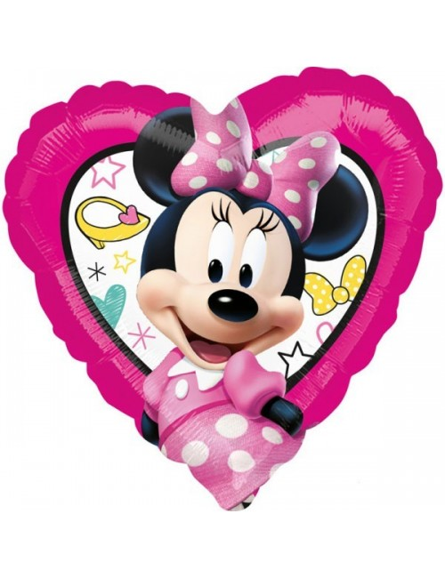 Balon folie Minnie Mouse - inimioara, 43 cm