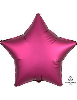 Balon folie Stea, Satin Luxe, fucsia, 48 cm